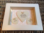 Shabby Personalised Chic Box Frame Gift For Bride & Groom On Wedding Day Present